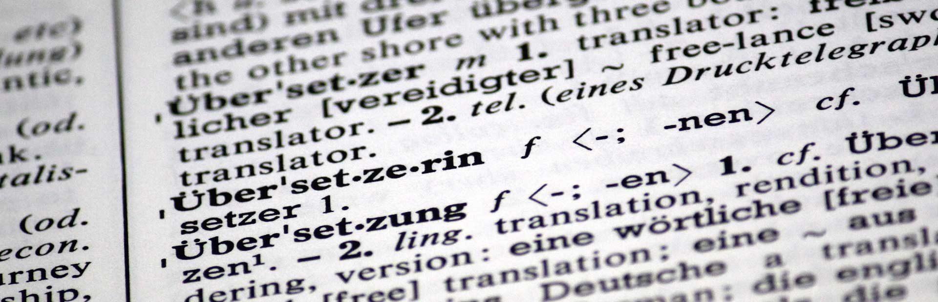 DESK Sprachkurse in München und Herrsching, Übersetzung, Wörterbuch